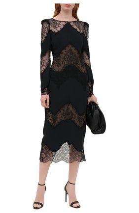 Женское платье из вискозы ZUHAIR MURAD черного цвета, арт. DRP20013/CRCA007 | Фото 2