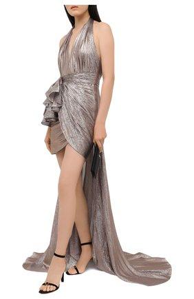 Женское платье ZUHAIR MURAD серебряного цвета, арт. DRP20011/CHLU003 | Фото 2