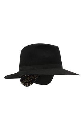 Женская фетровая шляпа MAISON MICHEL черного цвета, арт. 1147001001/HENRIETTA EARS | Фото 1