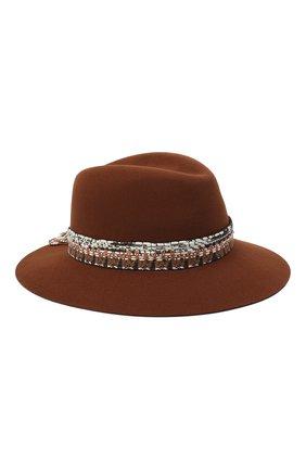 Женская фетровая шляпа MAISON MICHEL коричневого цвета, арт. 1002092001/HENRIETTA   Фото 1