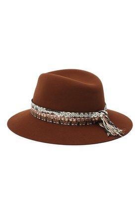 Женская фетровая шляпа MAISON MICHEL коричневого цвета, арт. 1002092001/HENRIETTA   Фото 2