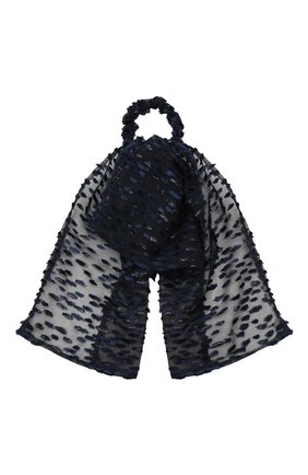 Женская резинка для волос MAISON MICHEL черного цвета, арт. 2417002001/WIC0LE | Фото 1 (Материал: Вискоза, Текстиль, Шелк)