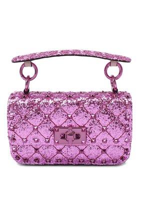 Женская сумка valentino garavani rockstud spike VALENTINO розового цвета, арт. UW2B0G37/LVR | Фото 1