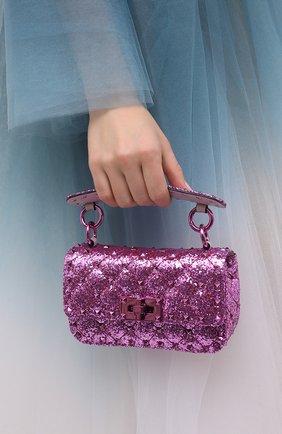 Женская сумка valentino garavani rockstud spike VALENTINO розового цвета, арт. UW2B0G37/LVR | Фото 2
