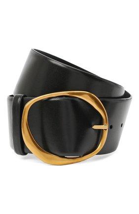 Женский кожаный ремень OSCAR DE LA RENTA черного цвета, арт. 20PA100 | Фото 1