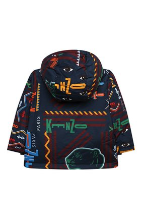 Детская куртка с капюшоном KENZO темно-синего цвета, арт. KR42517 | Фото 2