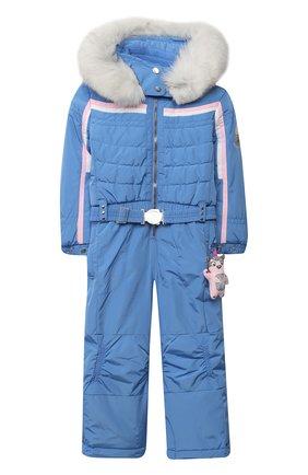 Детский утепленный комбинезон POIVRE BLANC голубого цвета, арт. 279639   Фото 1