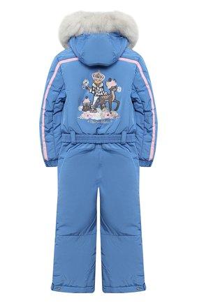 Детский утепленный комбинезон POIVRE BLANC голубого цвета, арт. 279639   Фото 2