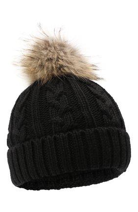 Детского шерстяная шапка BOGNER KIDS черного цвета, арт. 95506408 | Фото 1