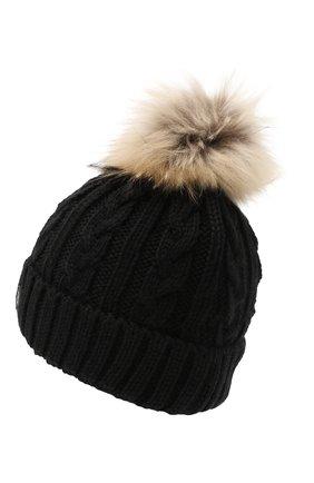 Детского шерстяная шапка BOGNER KIDS черного цвета, арт. 95506408 | Фото 2