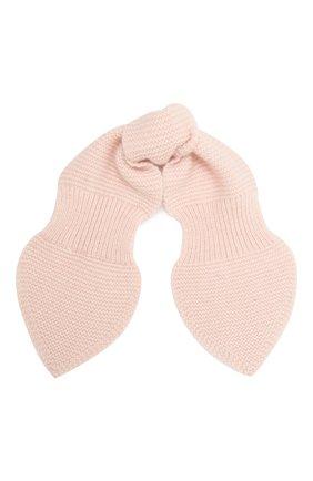 Детский кашемировый шарф LES LUTINS PARIS светло-розового цвета, арт. 20H040/ELISE | Фото 1