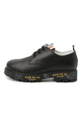 Детские кожаные туфли PREMIATA WILL BE черного цвета, арт. G0-URBAN/11-221470/JUN | Фото 2 (Материал внутренний: Натуральная кожа)