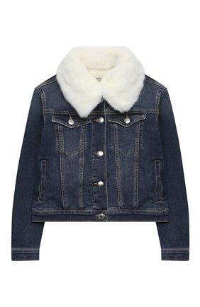 Детская джинсовая куртка ERMANNO SCERVINO голубого цвета, арт. 47I CP08 JNS/10-16 | Фото 1