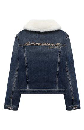 Детская джинсовая куртка ERMANNO SCERVINO голубого цвета, арт. 47I CP08 JNS/10-16 | Фото 2