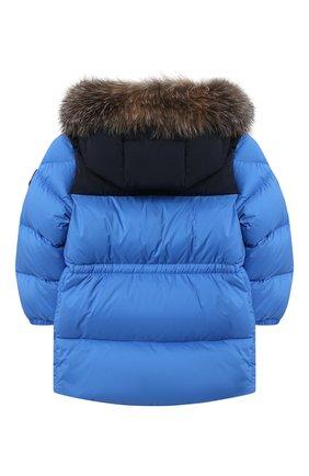 Детского пуховая куртка MONCLER синего цвета, арт. F2-951-1C504-22-53333 | Фото 2