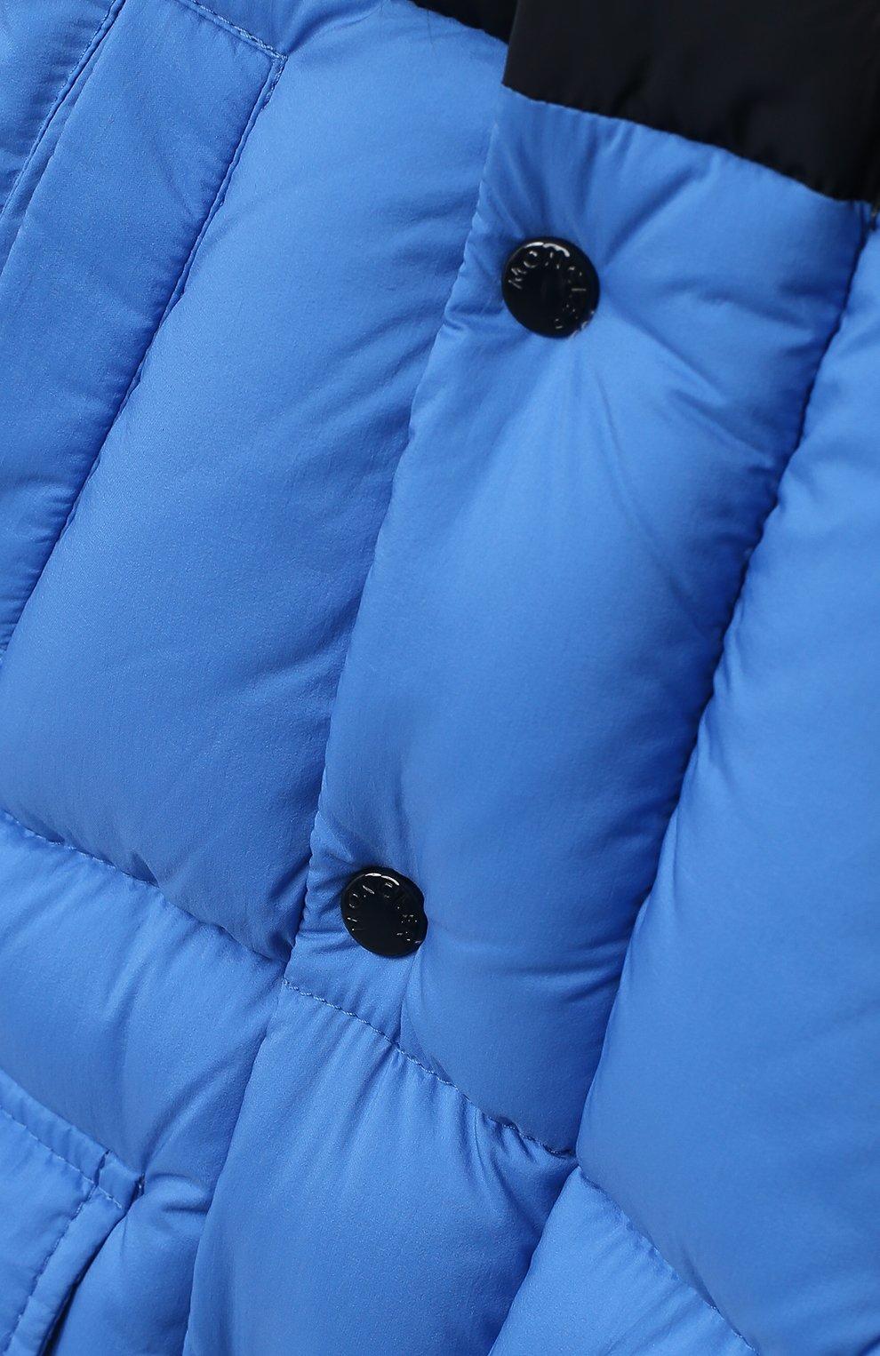 Детского пуховая куртка MONCLER синего цвета, арт. F2-951-1C504-22-53333 | Фото 3