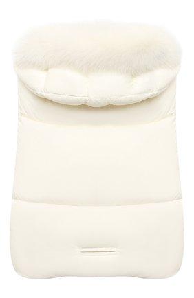 Детский пуховый конверт MONCLER белого цвета, арт. F2-951-1G509-02-53333/3M-18M | Фото 2