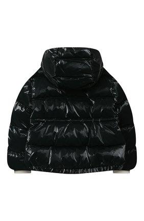 Детского пуховая куртка MONCLER темно-зеленого цвета, арт. F2-954-1A556-10-54AMD/12-14A | Фото 2