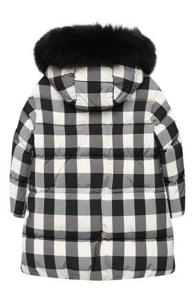 Детское пуховое пальто MONCLER черно-белого цвета, арт. F2-954-1C511-12-539YJ/4-6A | Фото 2