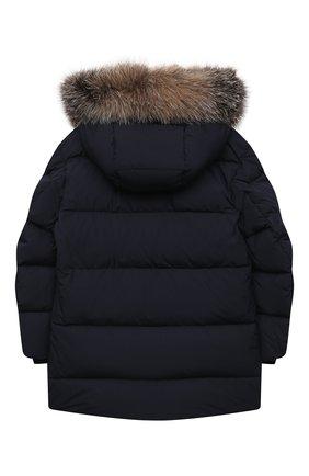 Детского пуховое пальто MONCLER темно-синего цвета, арт. F2-954-1C525-21-54A91/8-10A | Фото 2