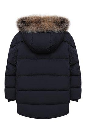 Детского пуховое пальто MONCLER темно-синего цвета, арт. F2-954-1C525-21-54A91/4-6A | Фото 2