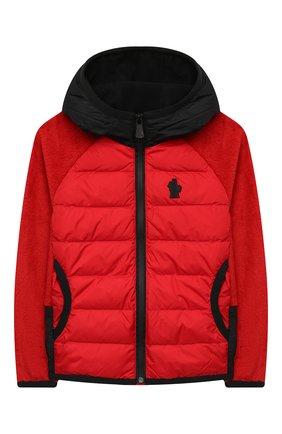 Детского комбинированная куртка MONCLER красного цвета, арт. F2-954-8G506-20-809EG/12-14A | Фото 1