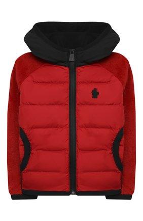 Детского комбинированная куртка MONCLER красного цвета, арт. F2-954-8G506-20-809EG/4-6A | Фото 1