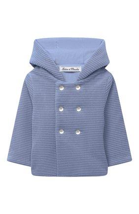 Детского хлопковая куртка TARTINE ET CHOCOLAT голубого цвета, арт. TR44001/42/1M-1A | Фото 1