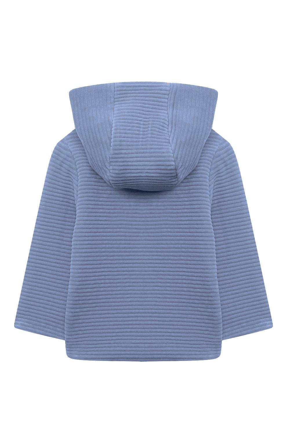 Детского хлопковая куртка TARTINE ET CHOCOLAT голубого цвета, арт. TR44001/42/1M-1A | Фото 2