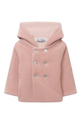 Детского хлопковая куртка TARTINE ET CHOCOLAT розового цвета, арт. TR44001/32/1M-1A | Фото 1
