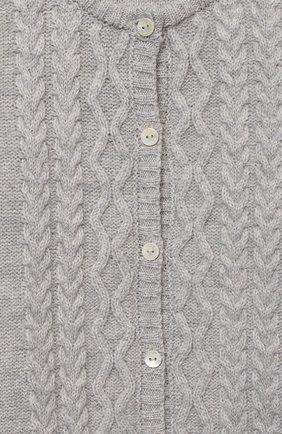 Детский шерстяной комбинезон BABY T серого цвета, арт. 20AI161T/1M-12M | Фото 3