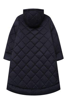 Детское стеганое пальто IL GUFO темно-синего цвета, арт. A20GP261N0068/10A-12A | Фото 2