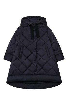 Детское стеганое пальто IL GUFO темно-синего цвета, арт. A20GP261N0068/2A-4A | Фото 1