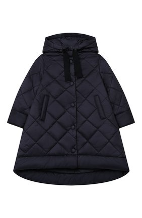 Детское стеганое пальто IL GUFO темно-синего цвета, арт. A20GP261N0068/5A-8A | Фото 1