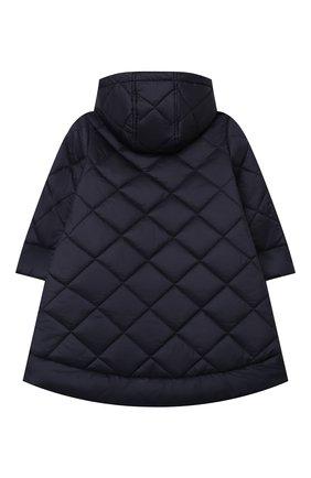 Детское стеганое пальто IL GUFO темно-синего цвета, арт. A20GP261N0068/5A-8A | Фото 2