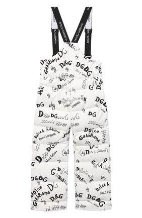 Детские утепленные брюки DOLCE & GABBANA белого цвета, арт. L5JP6A/FSSER/2-6 | Фото 2