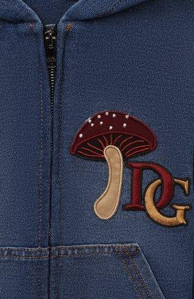 Детского джинсовая куртка DOLCE & GABBANA темно-синего цвета, арт. L2JW3E/G7XNY | Фото 3