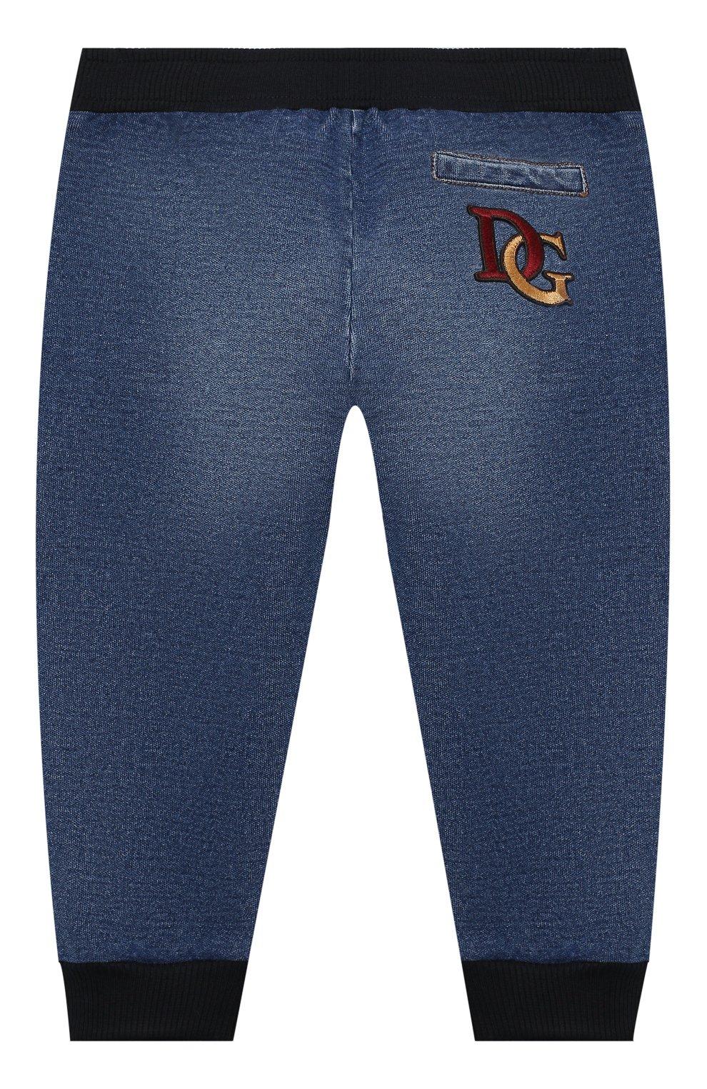 Детские джинсы DOLCE & GABBANA синего цвета, арт. L2JP7G/G7XNY   Фото 2