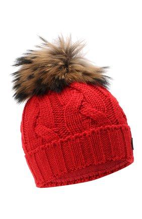 Детского шерстяная шапка BOGNER KIDS красного цвета, арт. 95506408 | Фото 1