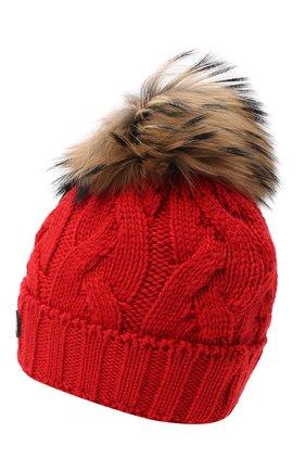 Детского шерстяная шапка BOGNER KIDS красного цвета, арт. 95506408 | Фото 2