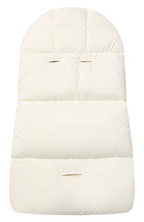 Детский пуховый конверт MONCLER белого цвета, арт. F2-951-1G509-02-53333 | Фото 2
