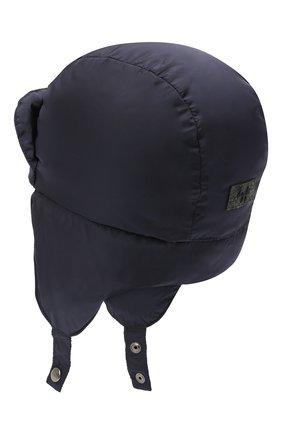 Детского пуховая шапка IL GUFO темно-синего цвета, арт. A20E0219N0031 | Фото 2
