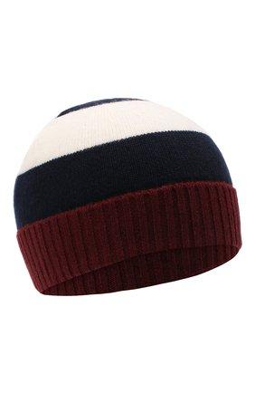 Детского шерстяная шапка IL GUFO бордового цвета, арт. A20E0289EM220 | Фото 1 (Материал: Шерсть)
