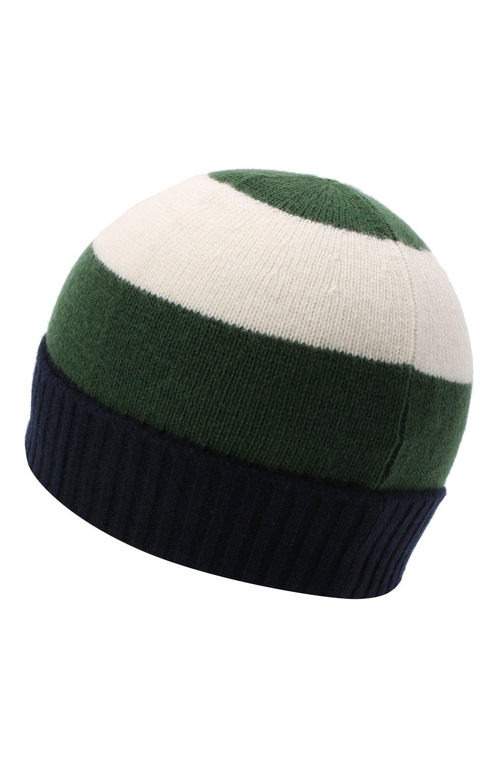 Детского шерстяная шапка IL GUFO зеленого цвета, арт. A20E0289EM220 | Фото 2