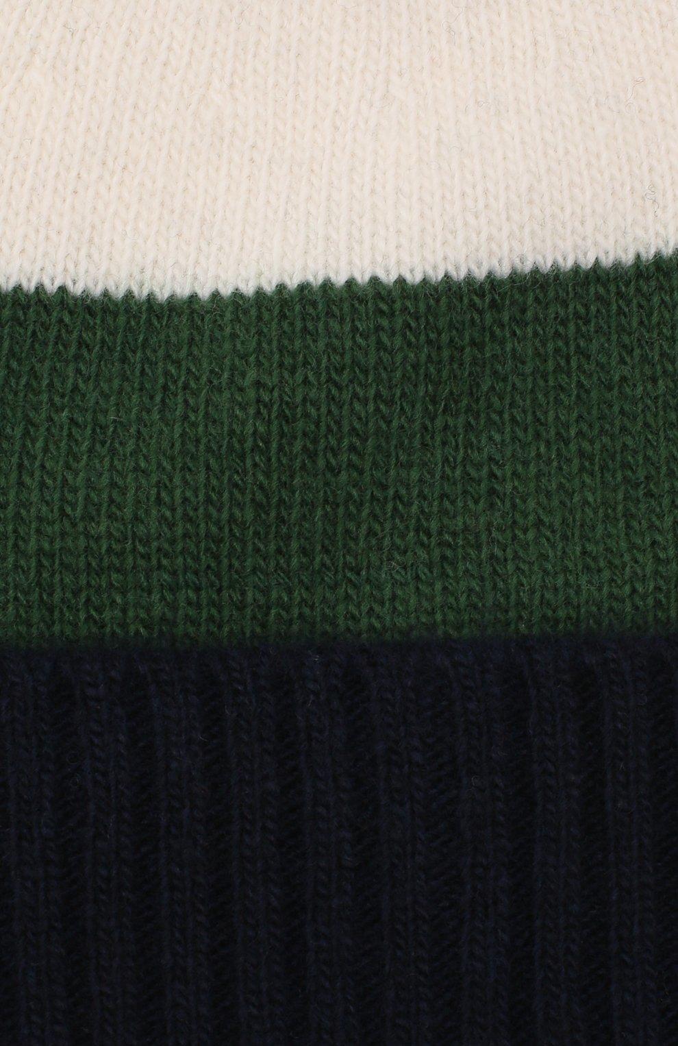 Детского шерстяная шапка IL GUFO зеленого цвета, арт. A20E0289EM220 | Фото 3