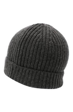 Мужская кашемировая шапка CRUCIANI темно-серого цвета, арт. AU050 | Фото 2