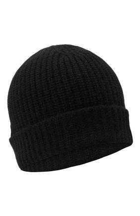 Мужская кашемировая шапка CRUCIANI черного цвета, арт. AU050 | Фото 1