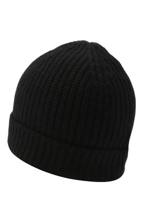 Мужская кашемировая шапка CRUCIANI черного цвета, арт. AU050 | Фото 2