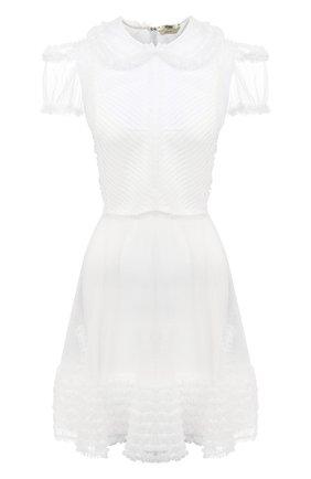 Женское платье FENDI белого цвета, арт. FDA854 AC6Q | Фото 1