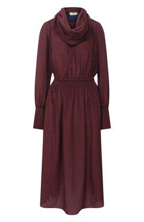 Женское шерстяное платье FENDI бордового цвета, арт. FDA867 AC6S | Фото 1